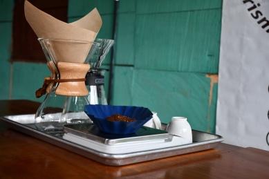 1. Wiegen des Kaffees
